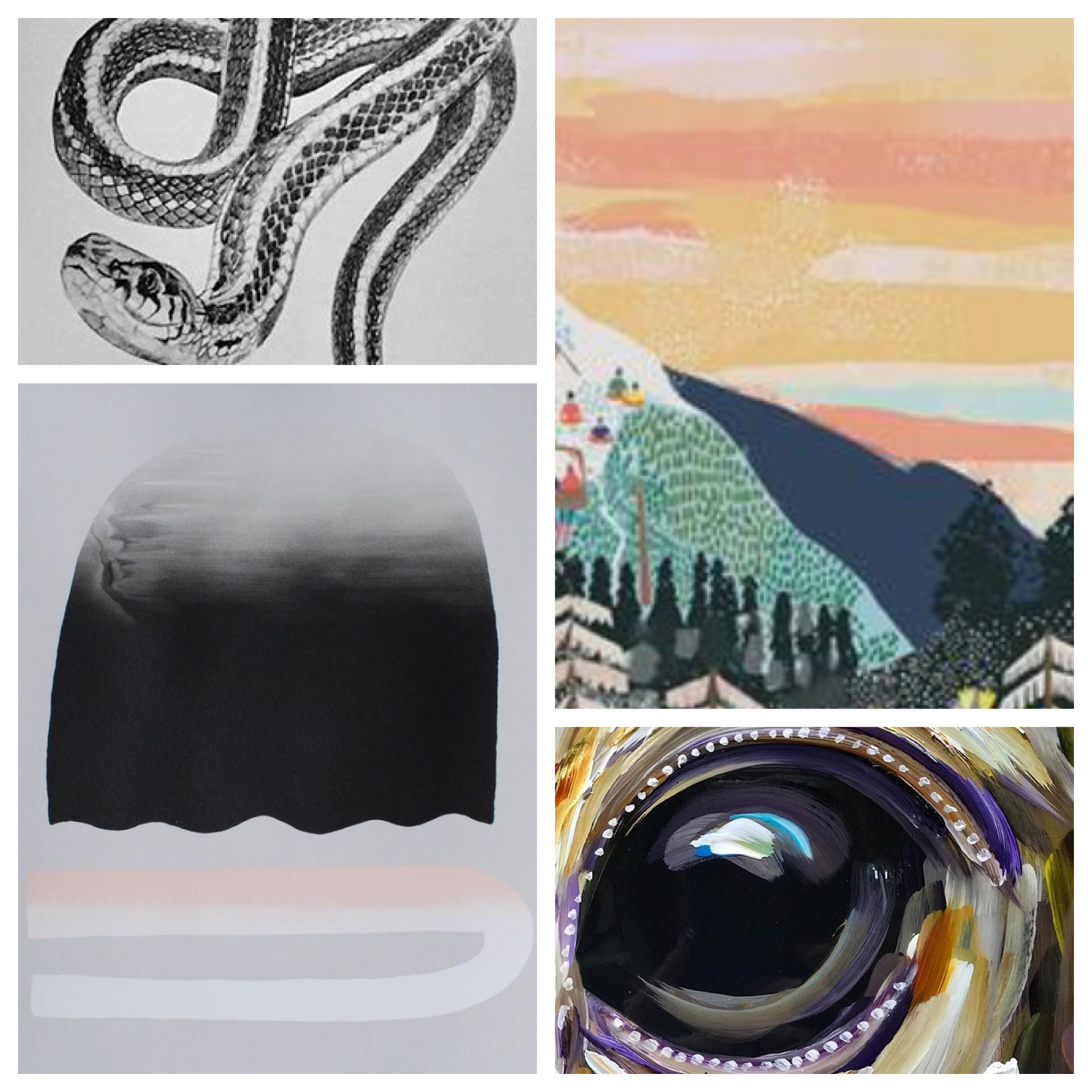 CLOCKWISE L TO R: SARAH HAMMOND STUDIO, ANJA JANE, KANDICE KEITH, ANNIE AXTELL