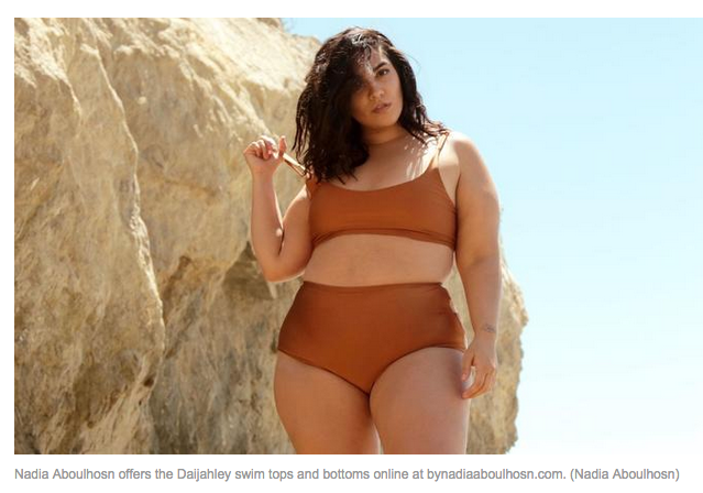 Nadia Aboulhosn offers the Daijahley swim tops and bottoms online at bynadiaaboulhosn.com. (Nadia Aboulhosn) http://www.latimes.com/fashion/la-ig-plus-size-swimwear-20170523-story.html