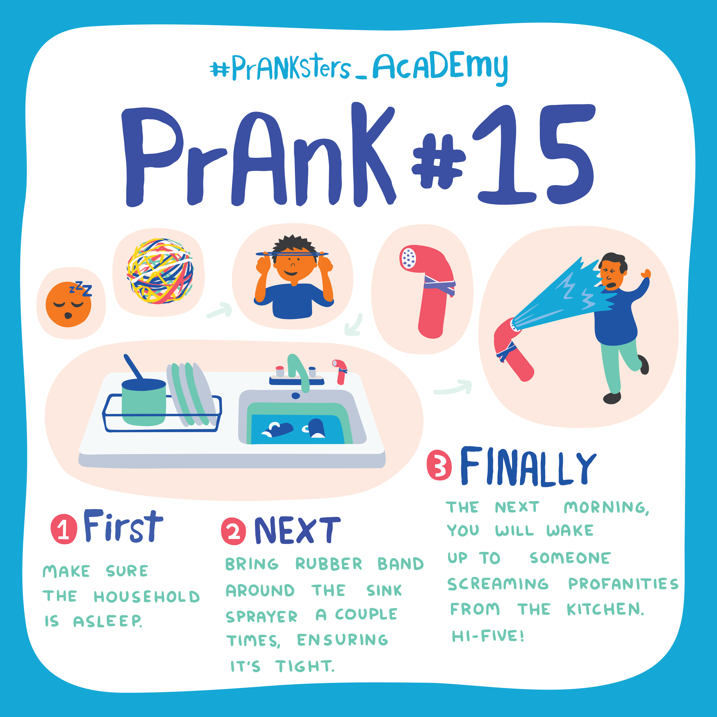 Prank #15: Rubber Band Spray