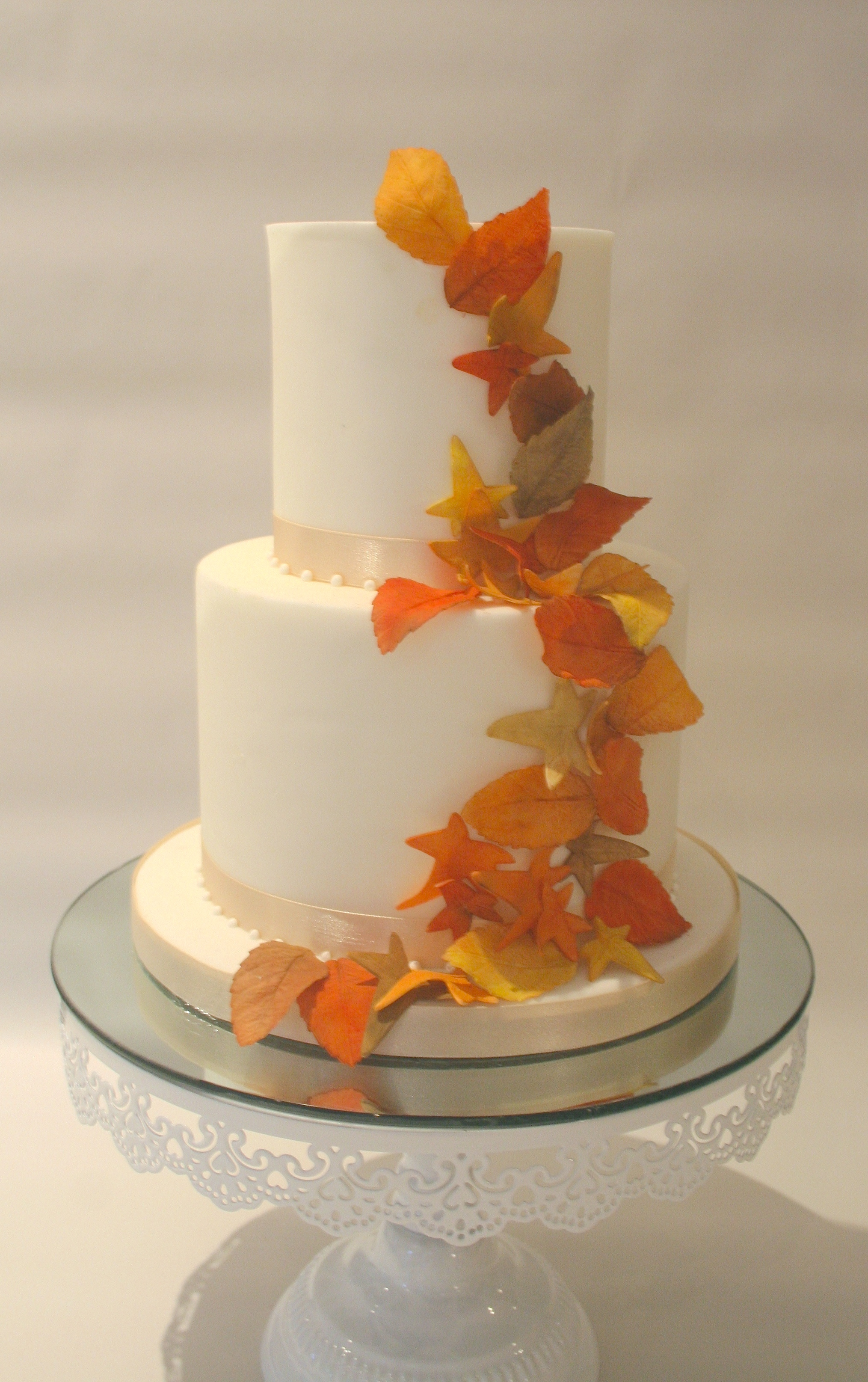 Autumn Leaves Cake
