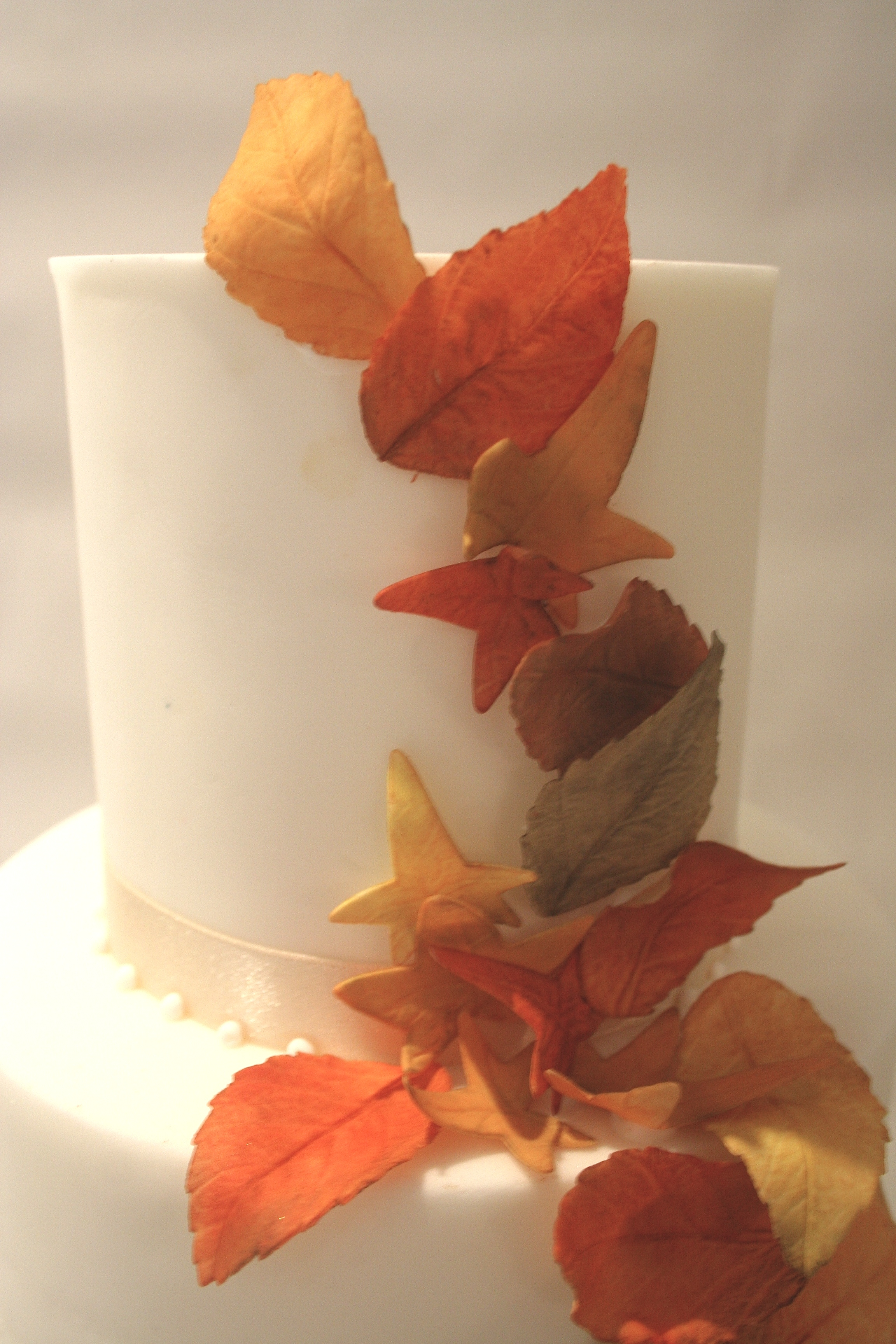 Autumn Leaves Cake - close up