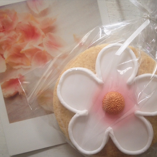 White Blossom Biscuit Favour