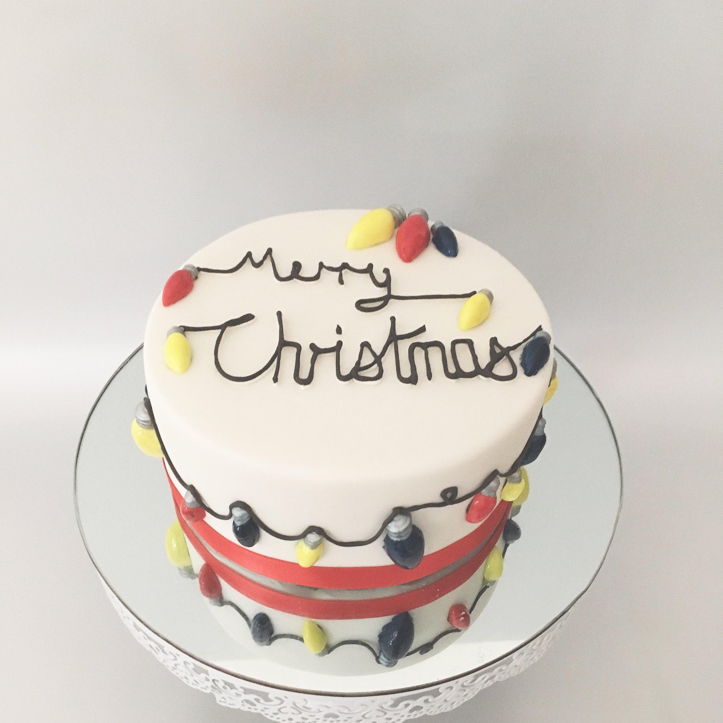 Christmas Lights Christmas Cake