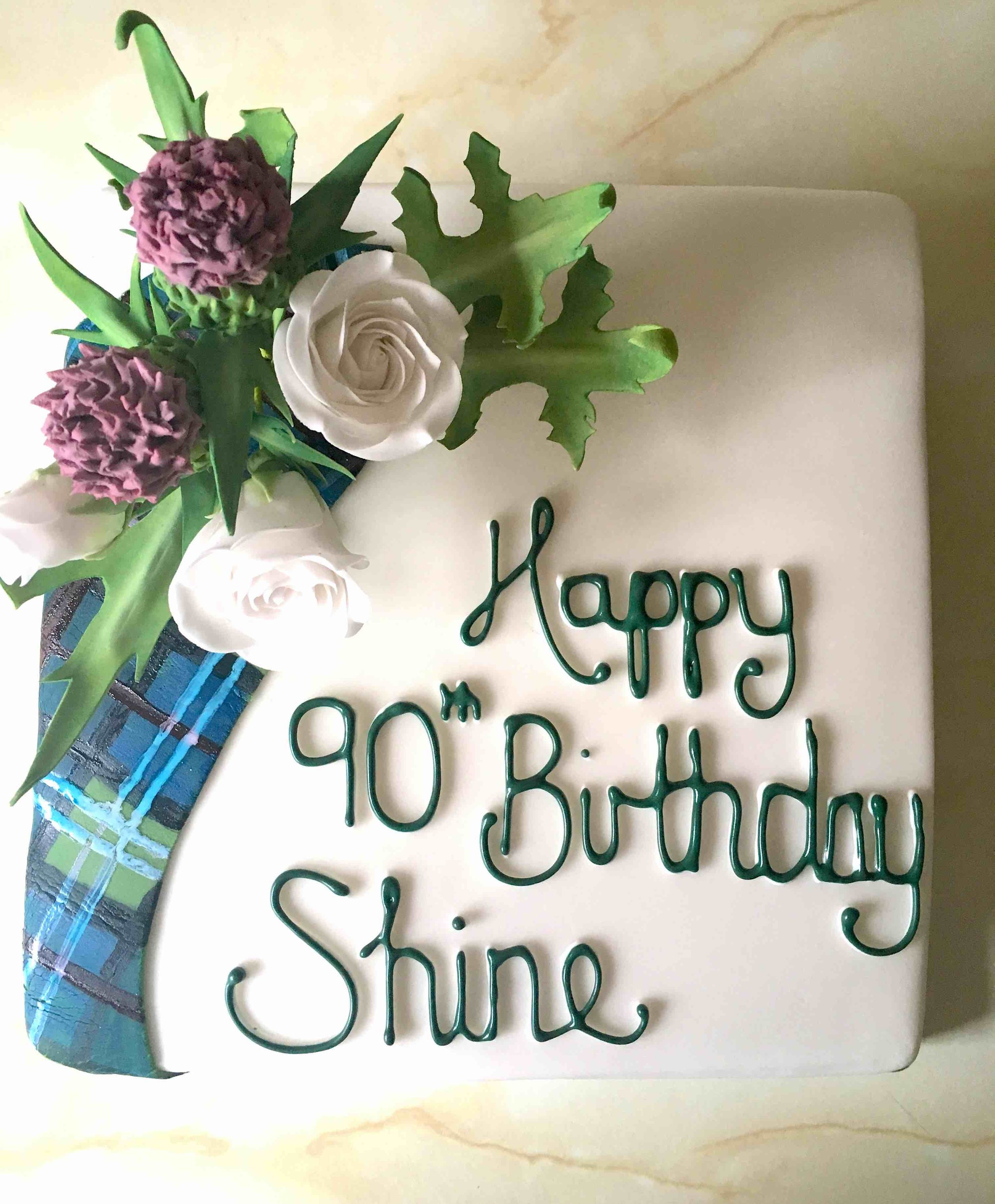 Scottish themed birthday cake