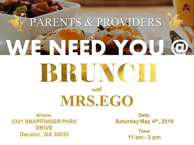 Parents and Providers of Individuals @ Another Chance, Join Us for Brunch with Ego! May 4th, 2019