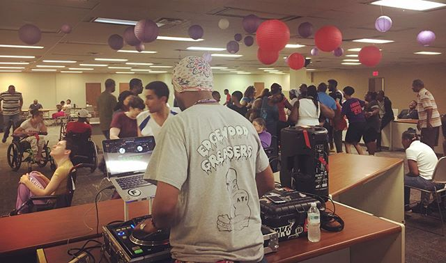 We had a SURPRISE dance party today! Thanks to @durrtymartinez! Another Chance appreciates when the community comes to visit us also! #o4w . . . . #acrsi #anotherchance #dayprogram #disabilityawareness #disabilitysupport #disabilitylove #dsplife #cnalife #caregivers #djlove #atldjs
