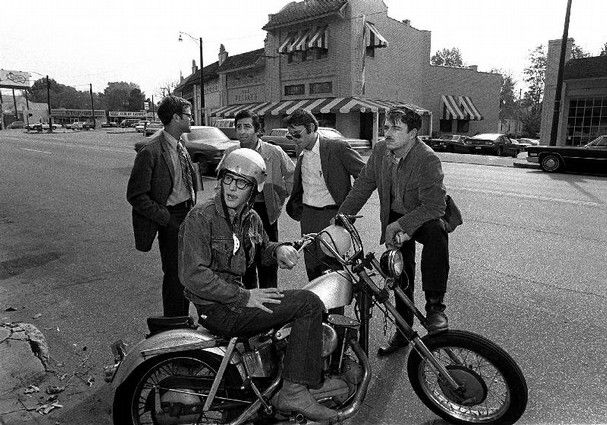 T.G.I. Friday's - Memphis an Overton Square founders James D. Robinson, Jr. (in helmet); Ben H. Woodson, George Saig, Charles H. Hull, and Frank E. Doggrell III (standing, left to right).   Photo by Charles Nicholas / The Commercial Appeal