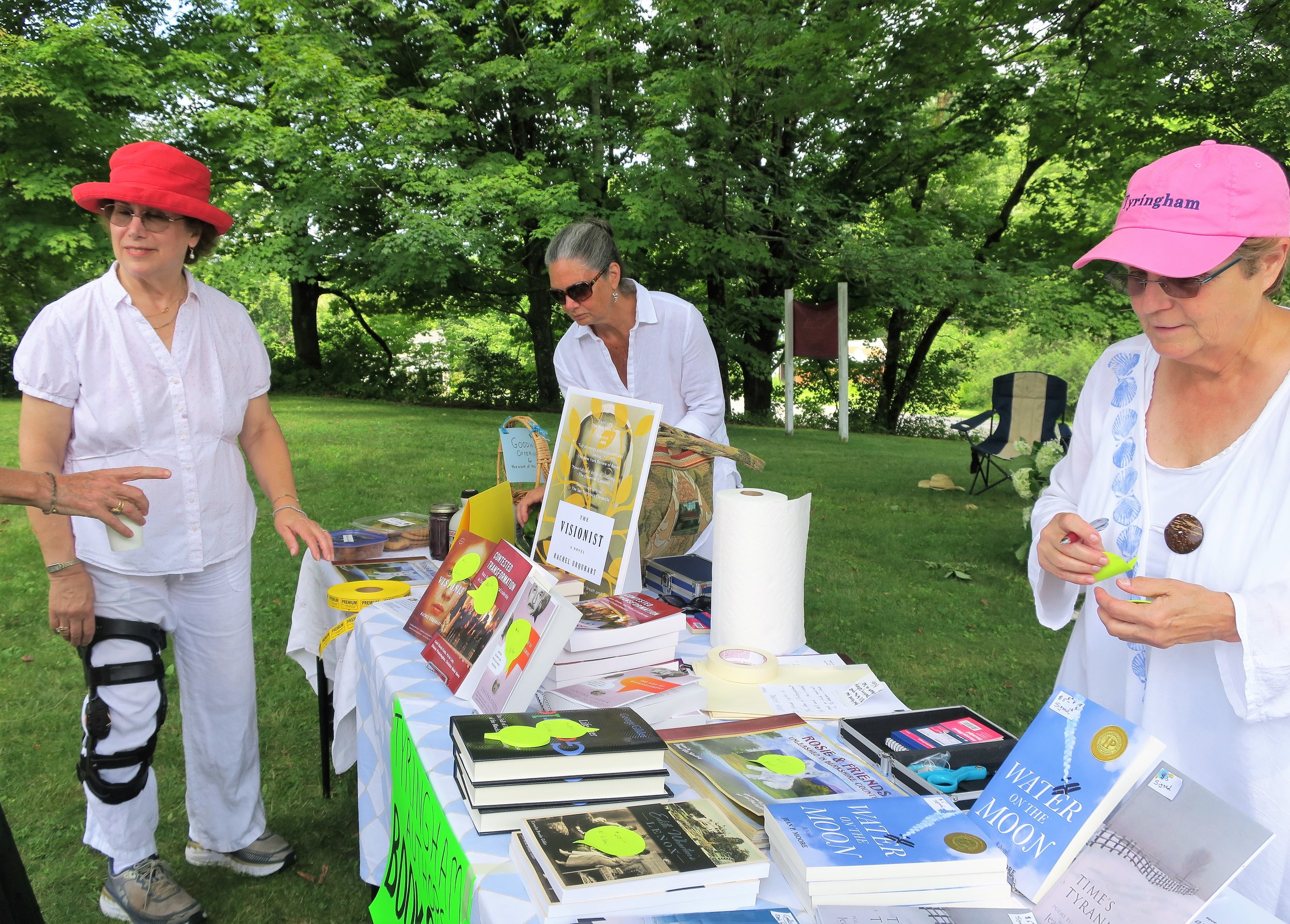 IMG_3731- Gail C. + Betty Bean - author's table.JPG