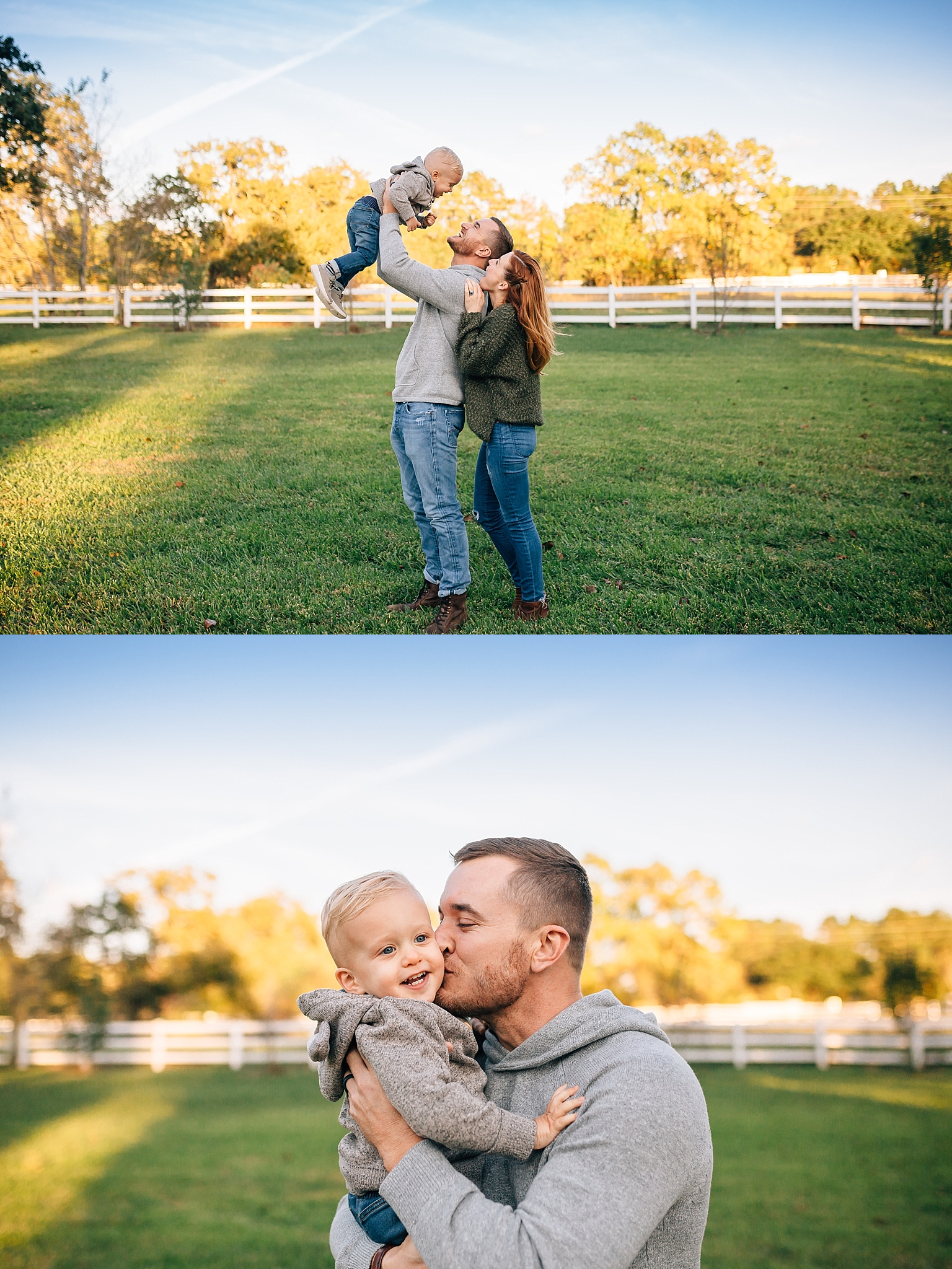 farm-family-photos-fall-with-open field-and-big-blue-sky