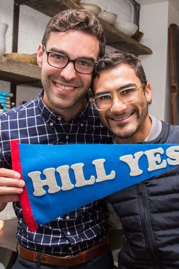 Josh and his partner Edwardo share a passion for human rights. Hill Yes! Photo by Kristen Blush.
