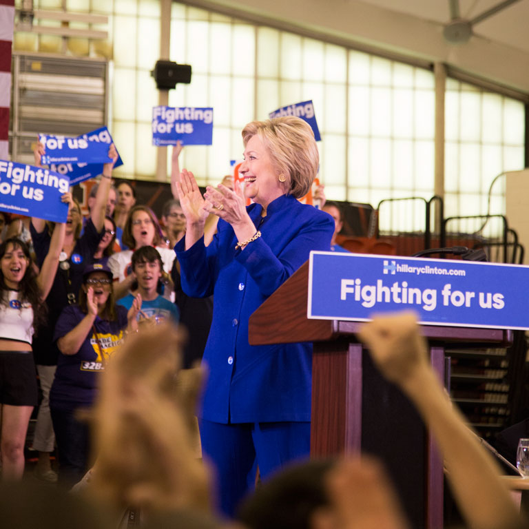 Hillary Clinton in Newark, New Jersey. Photo by Kristen Blush.