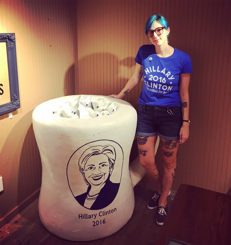 A huge  Hillary Clinton 2016 mug  at Fishs Eddy because why not?