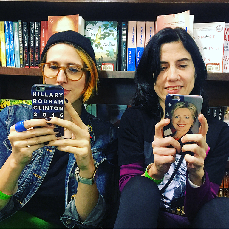 Kristen and Corinne at Barnes and Noble. Photo by Ava Paloma.