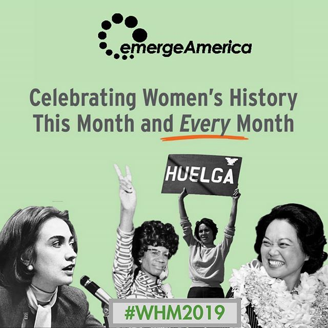 #Repost @emergeamerica ・・・ Emerge alums helped make history in 2018, and this year, they'll do it again. This #WomensHistoryMonth, we honor their achievements.  #EmergeNow