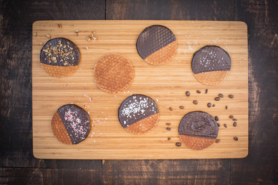 We are based in Lancaster, PA, in the heart of PA Dutch country. Stroopies are produced locally using all natural ingredients to bring you the authentic Dutch Stroopwafel experience. In 2010, Jonathan & Jennie Groff joined the Stroopie family. Since then our US operation has continued to move forward introducing our same loved Stroopies with delectable chocolate dipped options….like our Stroopie dipped in gourmet dark chocolate with crushed pecans as a topper. Our US operation is based at Groff's Candies located at 3587 Blue Rock Rd., Lancaster PA. In May 2016, we plan to move The Stroopie Co. to Lancaster City at 141 North Duke St.  We will make and sell our Stroopies from the Lancaster Sweet Shoppe. So come find us and have a fresh warm Stroopie.  The Lancaster Sweet Shoppe will also be the home of a city branch for Groff's Chocolates, and a scoop shoppe where Pine View Dairy Ice Cream will be featured.