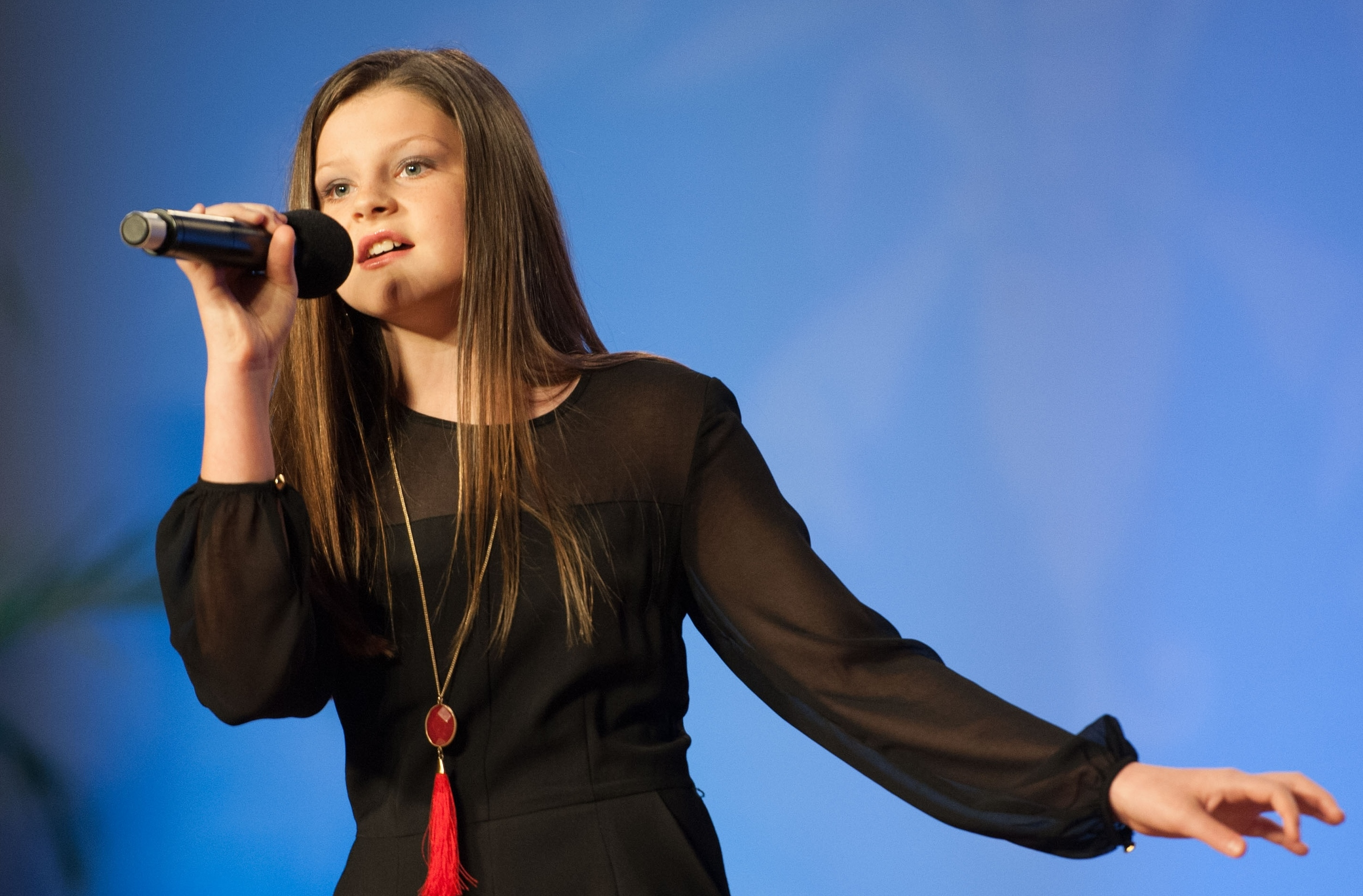 Ava Schmidt, 11, sung her way to the top during the Junior Talent Contest at the Louisiana Farm Bureau 94th Annual Convention.