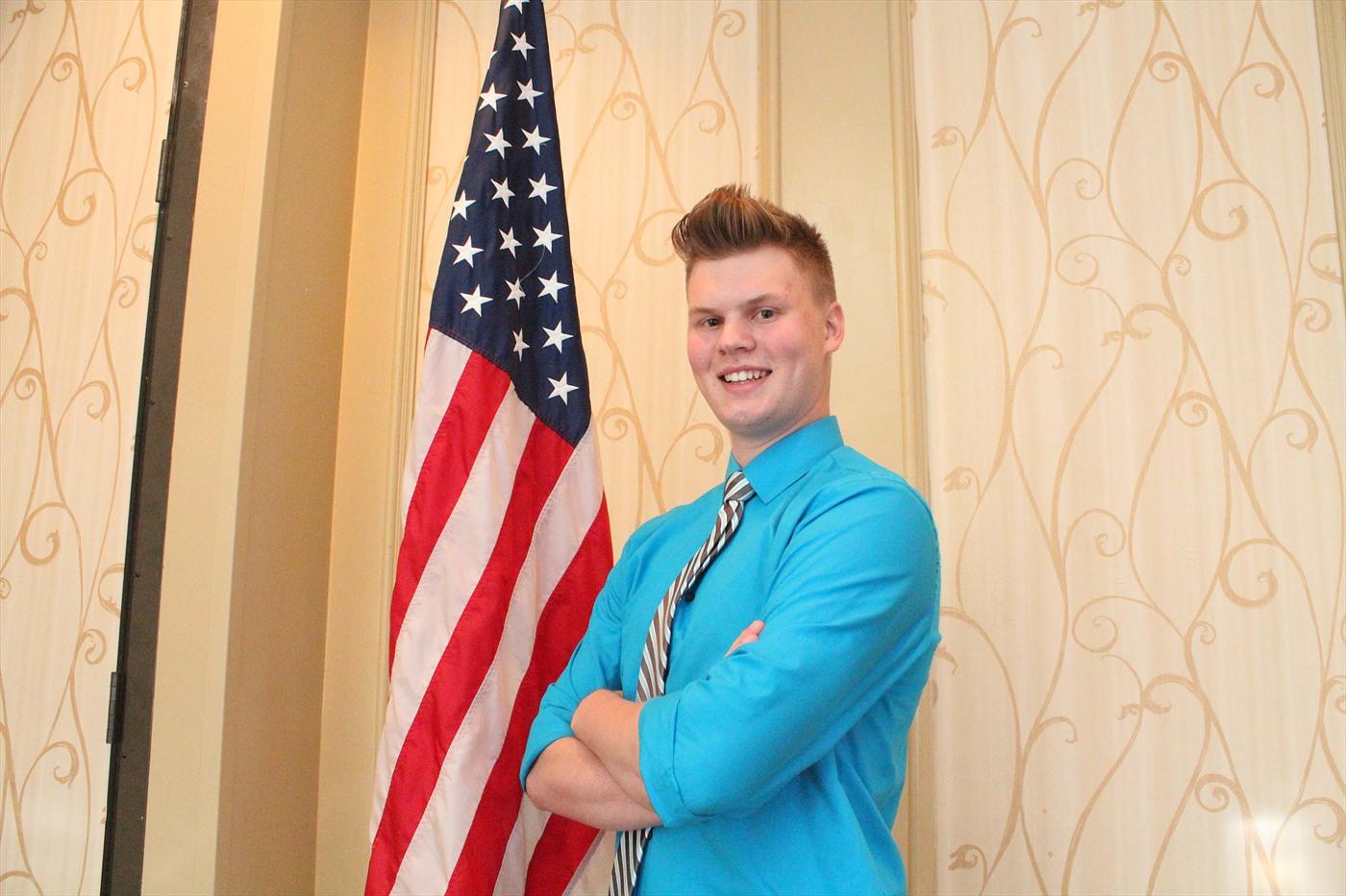 Tyler Bergeron of Pointe Coupee Parish wins the 2016 Talk Meet.