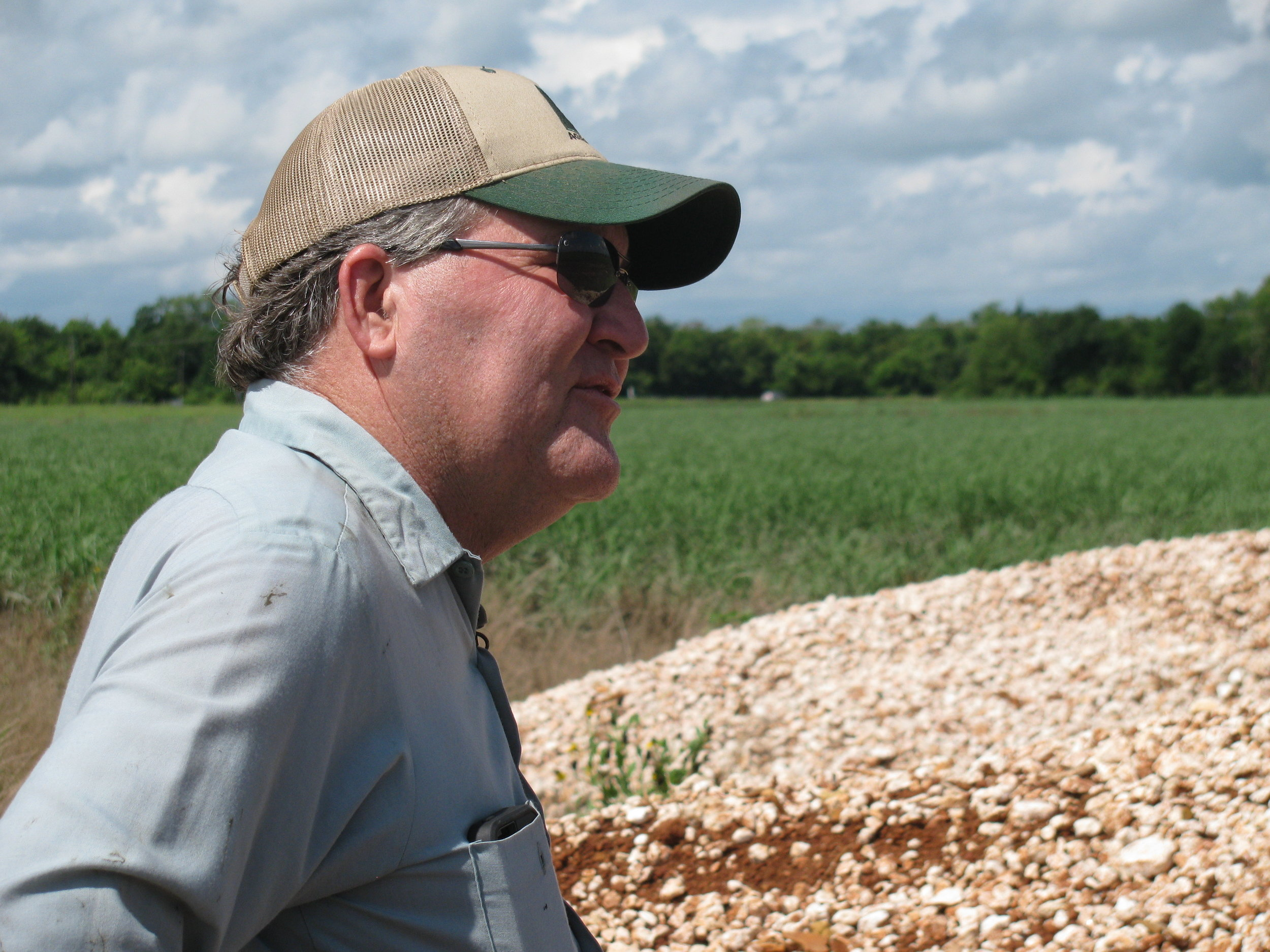 Vacherie sugarcane farmer Greg Gravois is relieved to hear that EPA is rescinding the WOTUS rule.