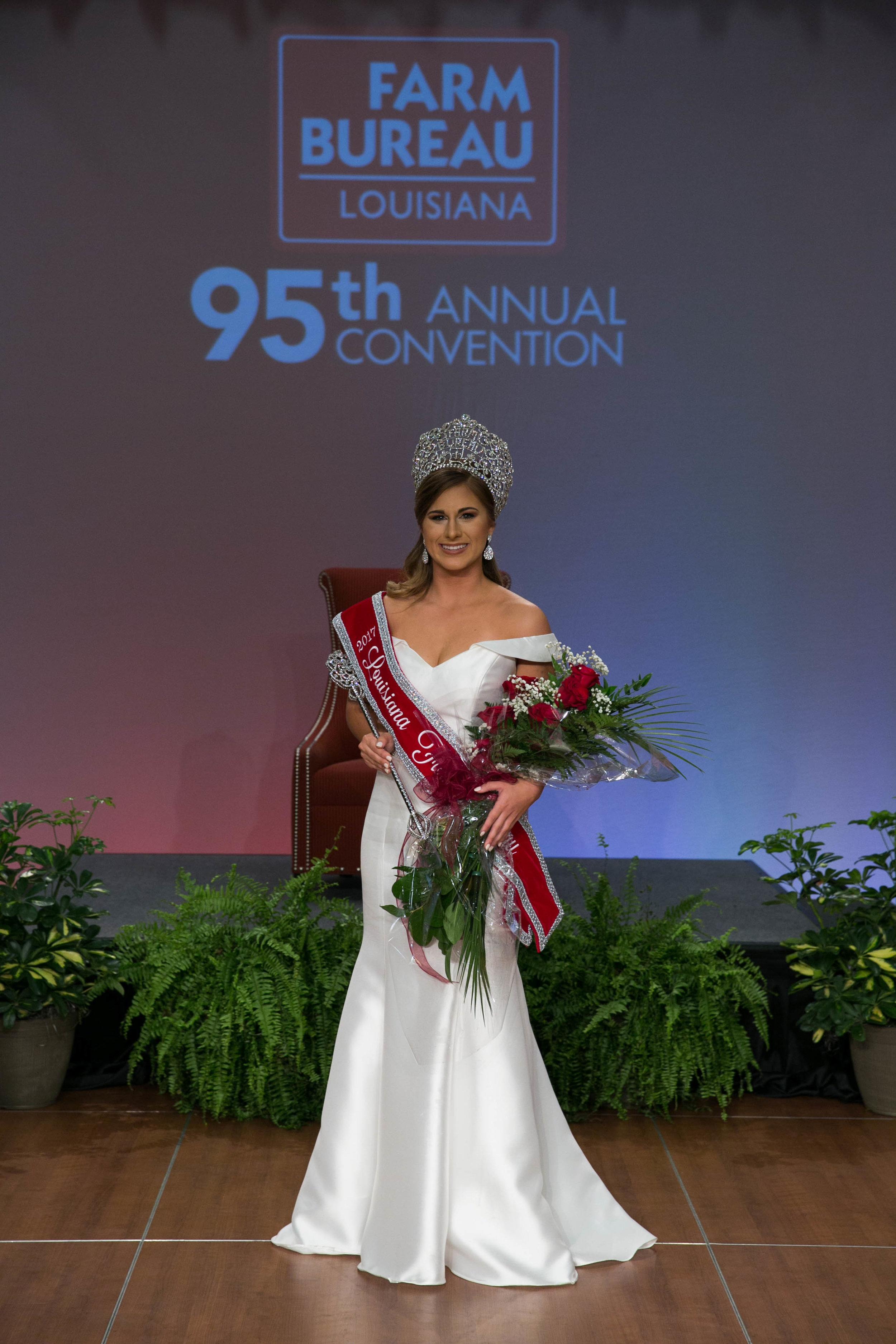 Sloane Judice, 16, of Iberia parish was crowned the 2017 Louisiana Farm Bureau Queen Saturday night during the organization's 95th annual convention.