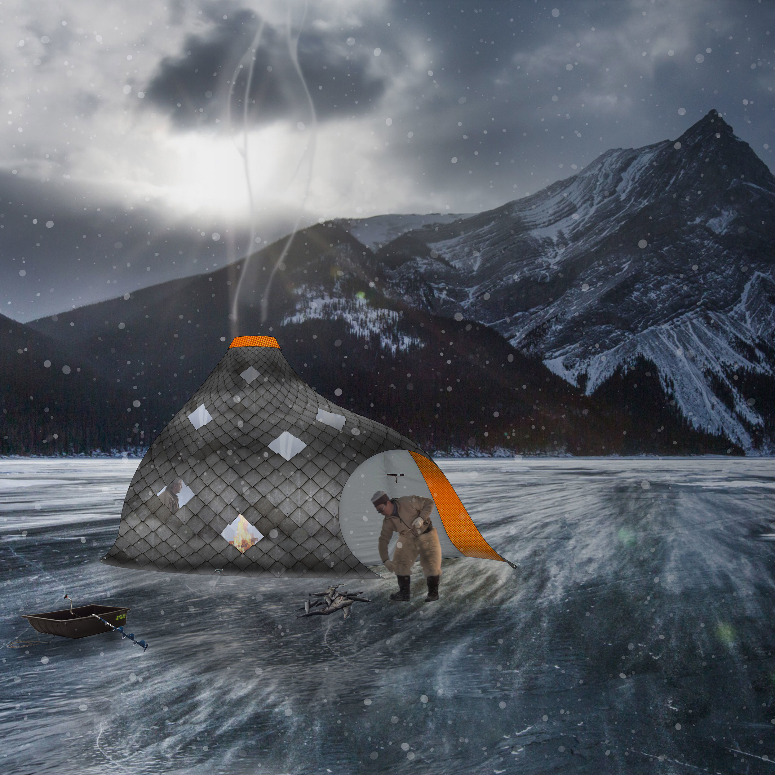 Ice Hut  Theoretical Project  The Small Building, Ryerson University 2016