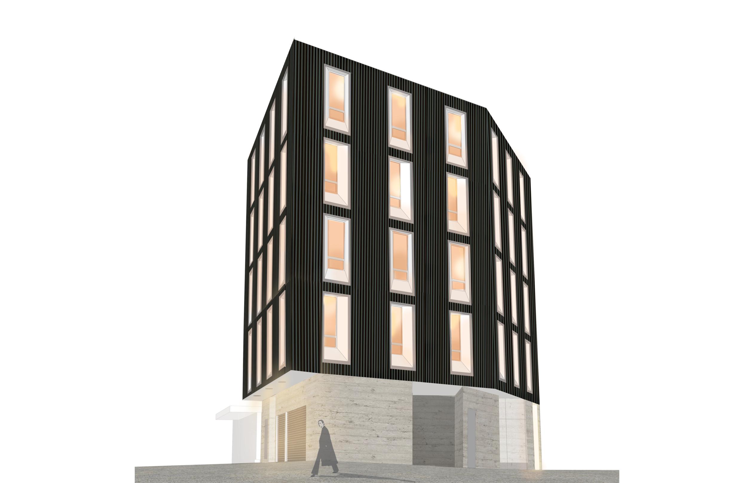 Zinc Laneway Office Ontario Cumulus Architects Inc. In Progress