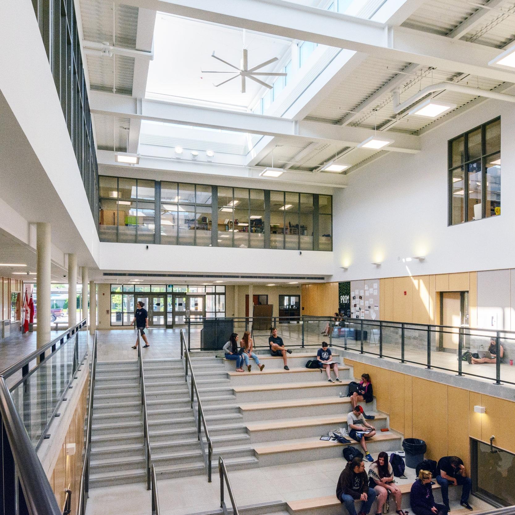 Orillia Secondary School, Orillia, ON, Architect, Moffet & Duncan Architects, 2016