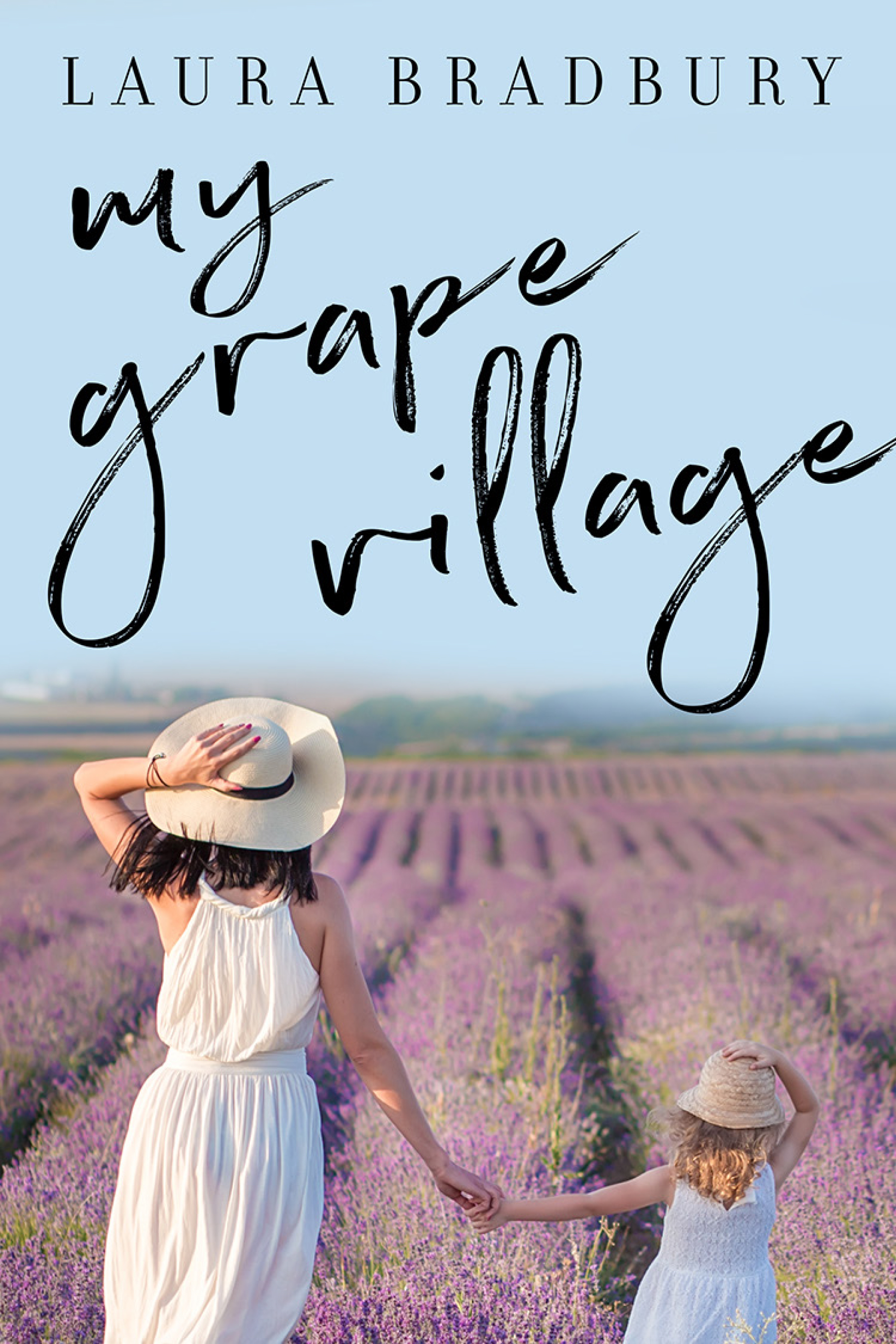 Uncorking La Belle Vie in France with my family.