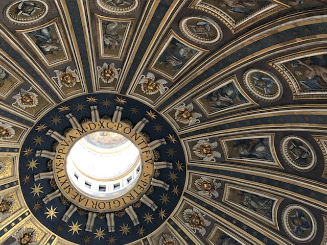 The roof of St. Peter's at the Vatican. Laura Bradbury