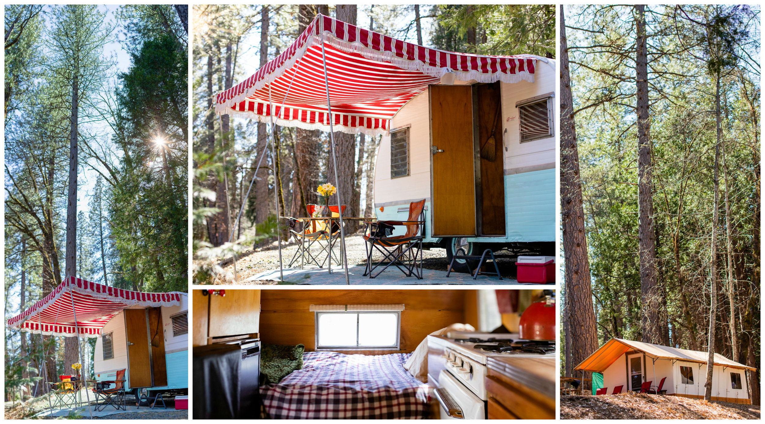Inn Town Campground Vintage Camper | Lenkaland Photography