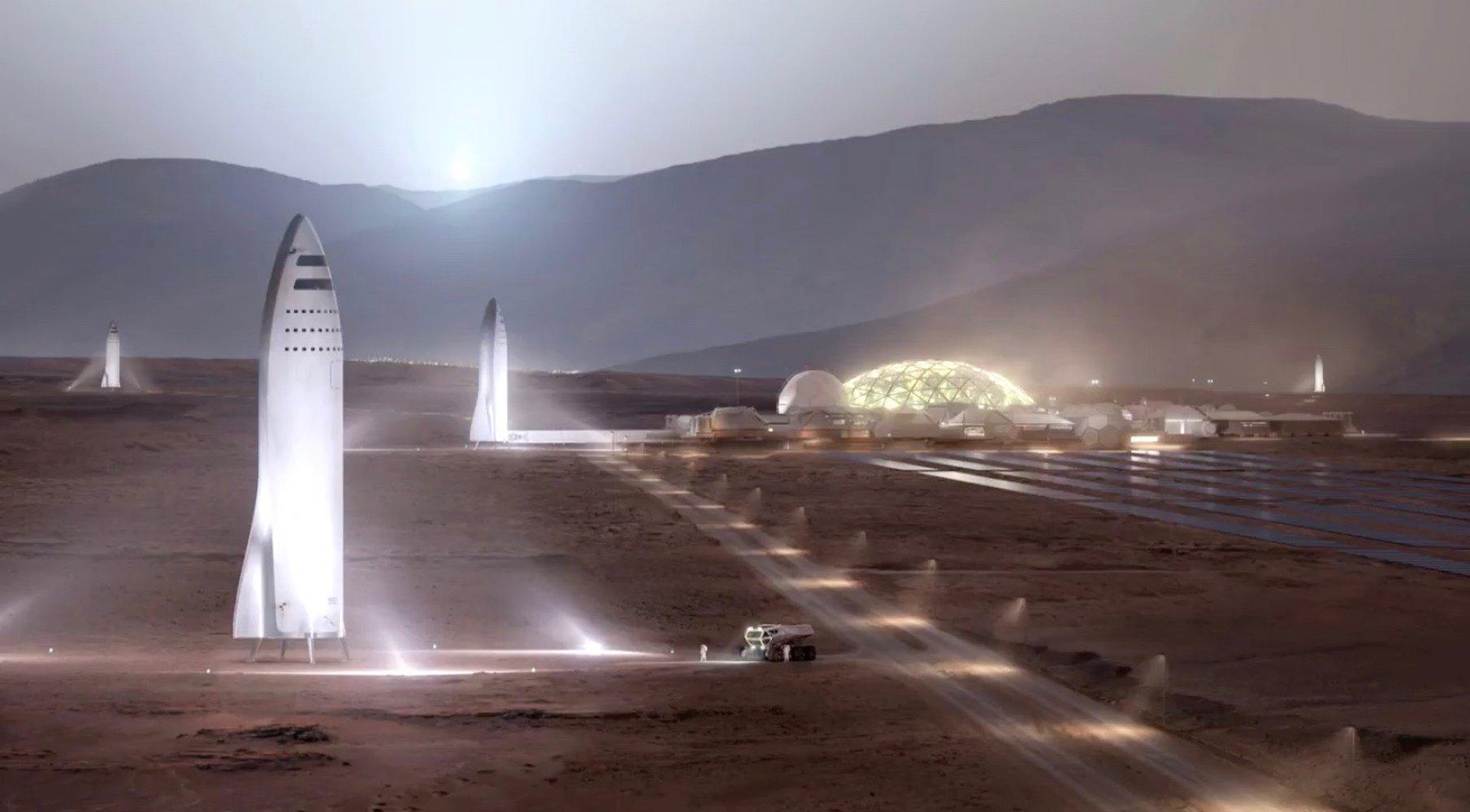 SpaceX BFR rendering