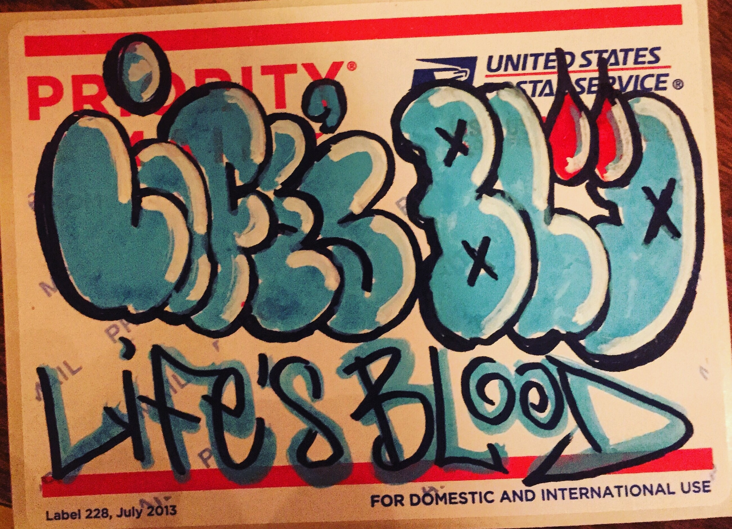 Life's Blood sticker by: SMOG RIS