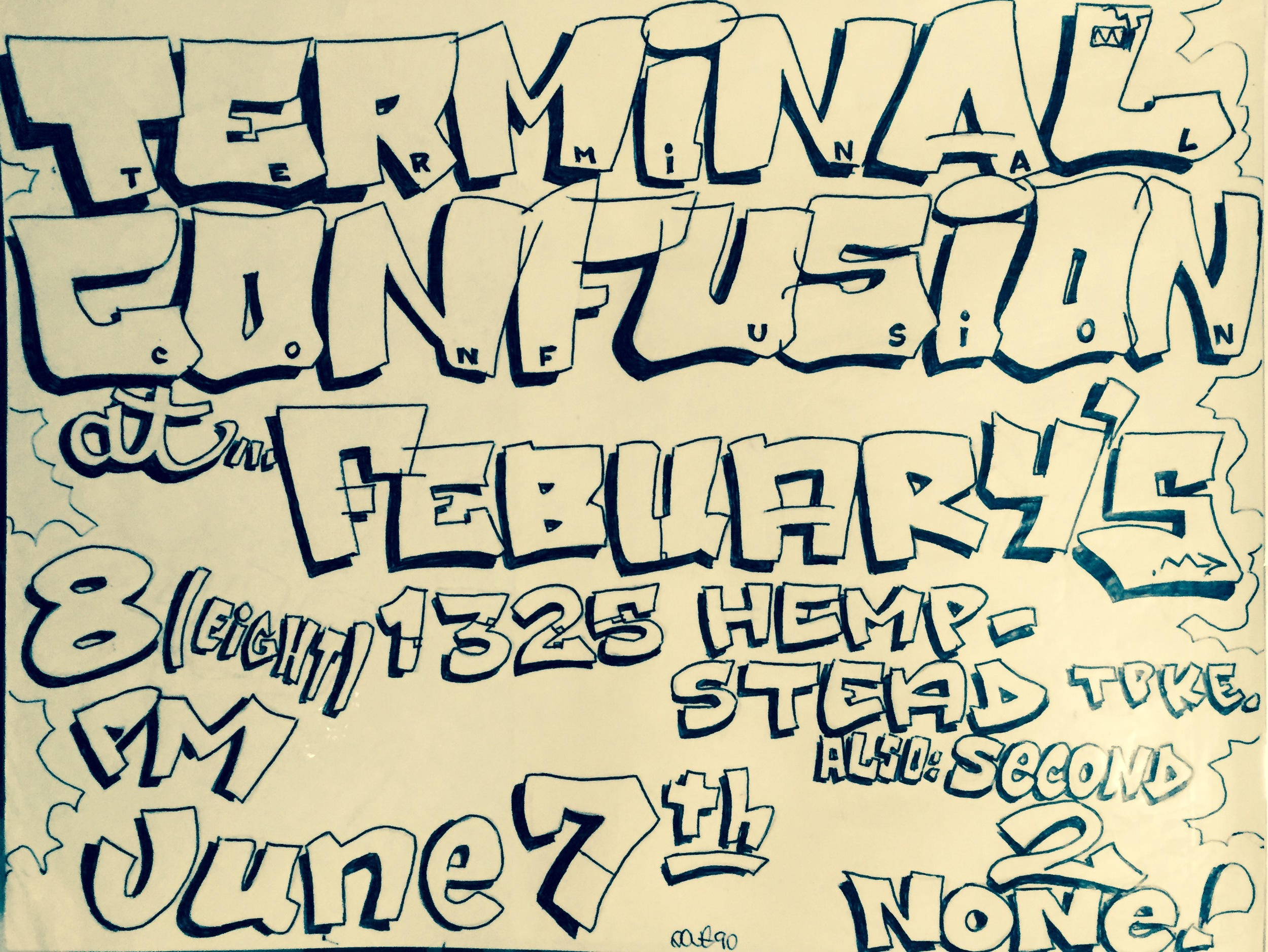 Terminal Confusion flyer by: VOYER TMR 1989