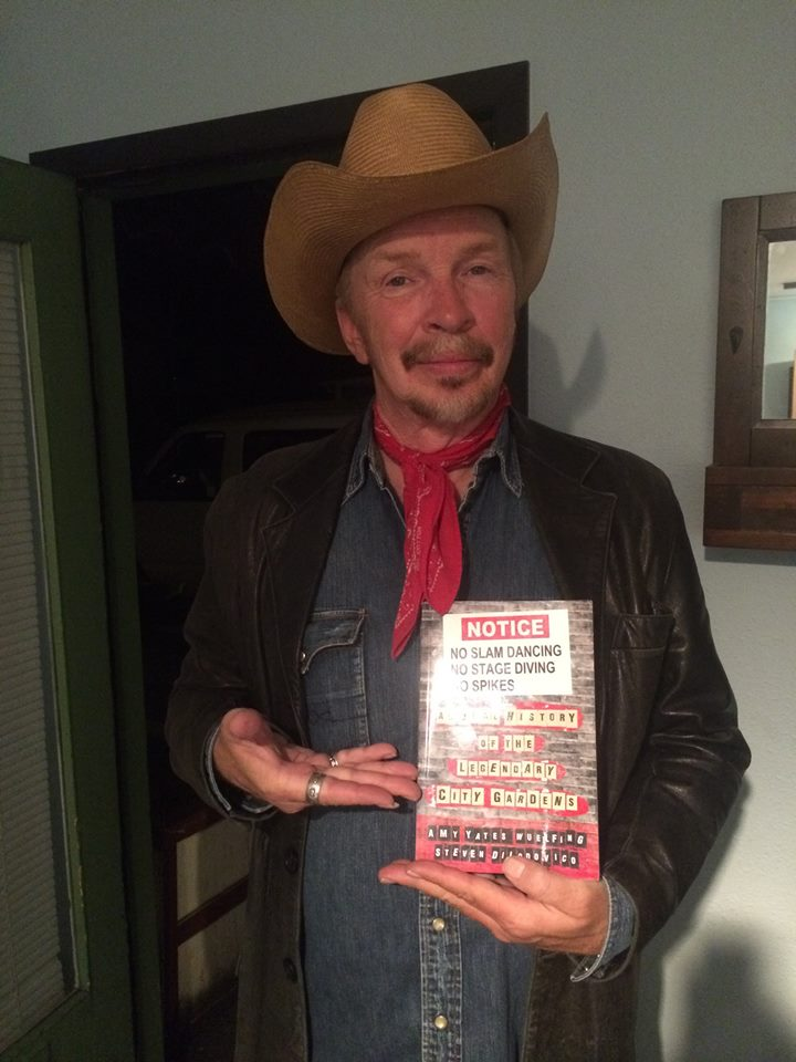 Almost 30 years later,    Dave Alvin    enjoys his copy of     No Slam Dancing.    Photo by    Paul O'Brien