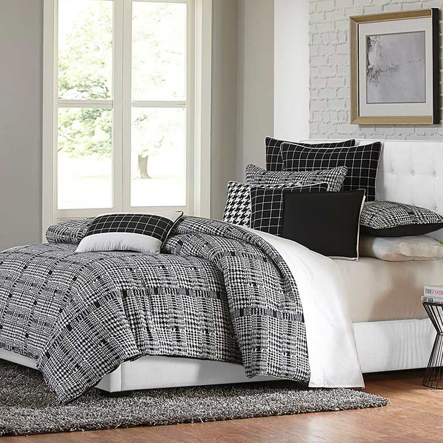 $729 10-Piece Bedding Set - • Includes all pillows and duvet inserts• Feather-filled decorative pillows• Hidden zippers• Oversized and overfilled comforter• 100% Polyester with contemporary style• Tencel® Sheet Sets & Down-alternative Duvet inserts are also available at 50% off MSRP!