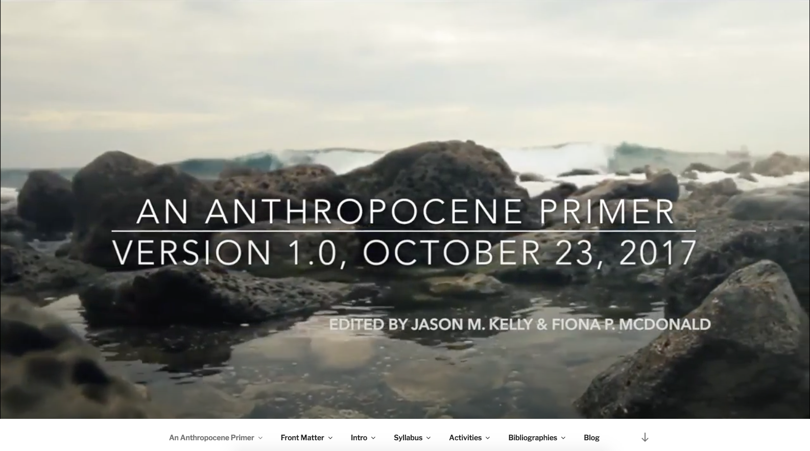 anthropoceneprimer.org