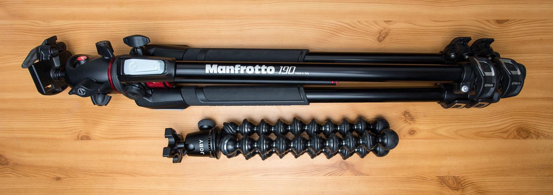 Gorillapod Focus et Manfrotto MT190XPRO3