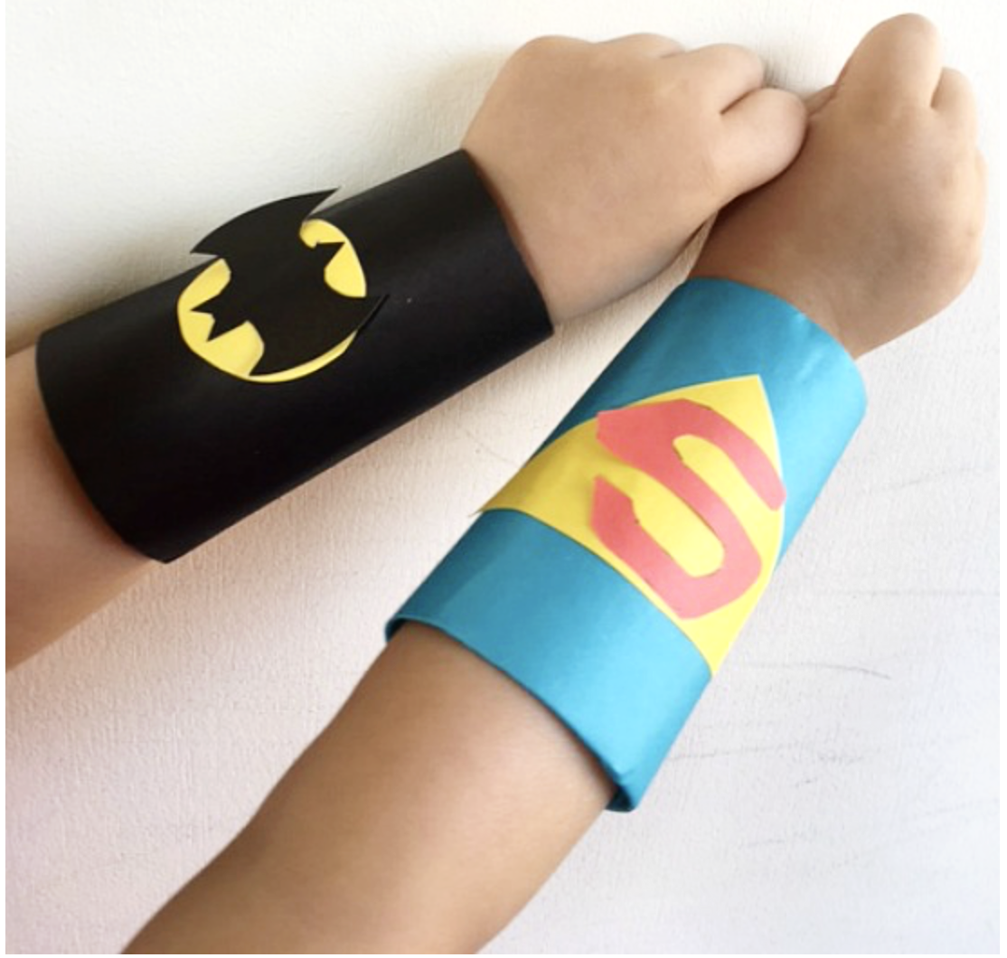 Wed 25th Oct, 11am-12noon:  - Superhero Cuffs Superhero Arms! : Everyone can be a superhero but do you have the superhero arm cuffs to match? Come join in with this workshop and design personalised cuffs to wear whenever you may need them!Suggested themed event: Super Duper SuperheroesSuitable for Ages 3+. Children must be accompanied by an adult at all times.£3