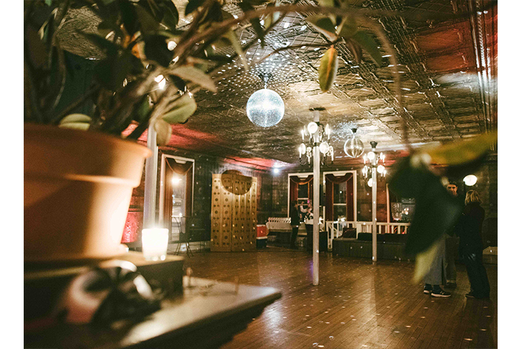 The Tin Ballroom at Night Lawrence Brau photography