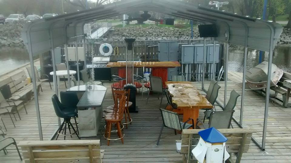 Bill's Bay Marina creates a community space and hosts events every summer to encourage their boaters to spend time in Upper Lake Pepin. (Photo Credit: Bill's Bay Marina Facebook Page)