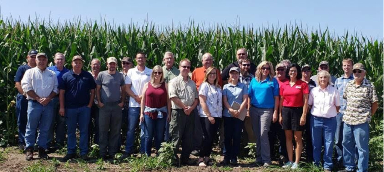 LPLA Executive Director, Rylee Main, with other attendees from the Wabasha Soil & Water Conservation District Farm Tour