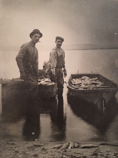 Carl and Sorin Sorensen, the first commercial fishermen from the Sorensen Family on Lake Pepin.