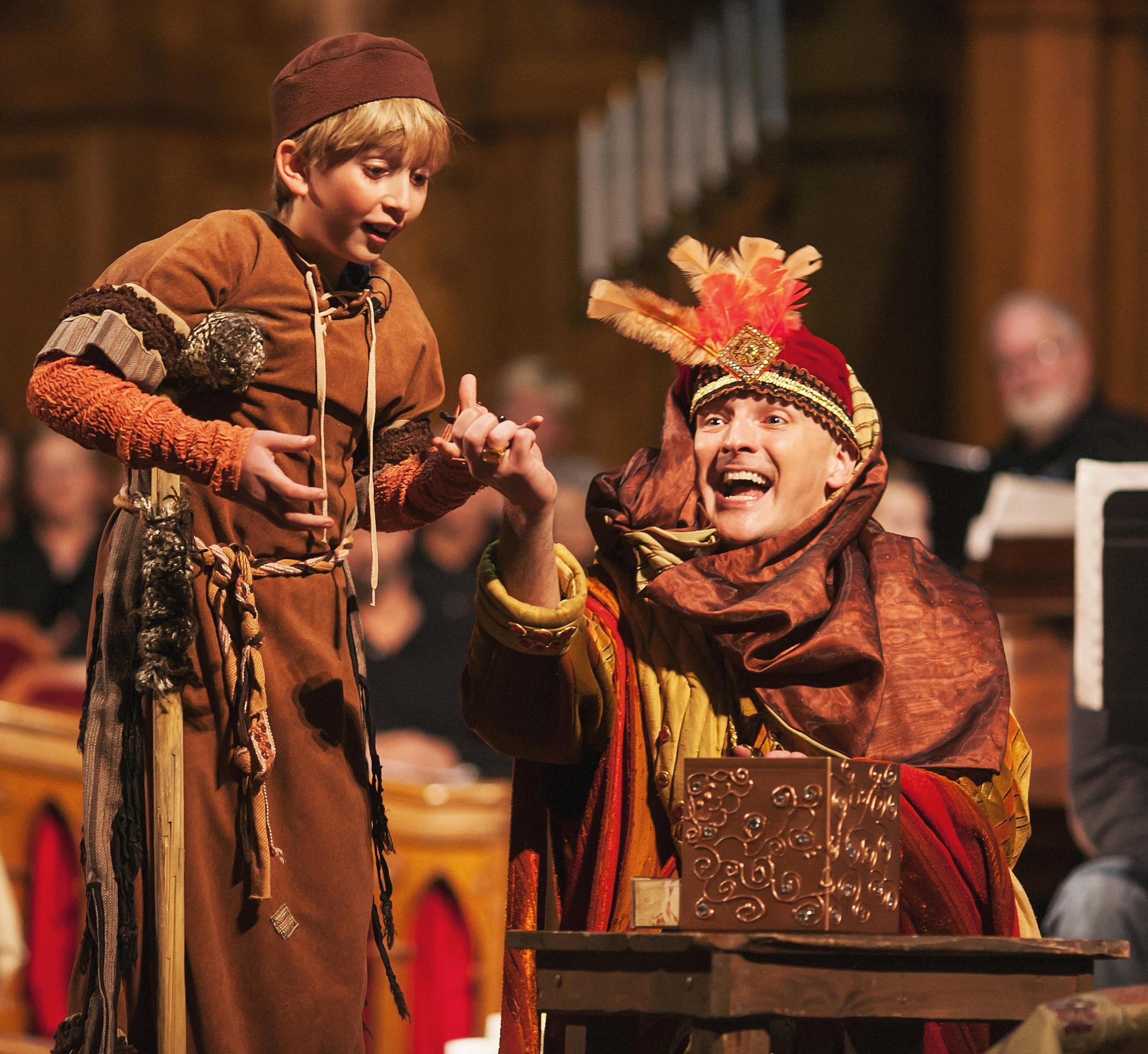 As King Kaspar in Central City Opera's 2015 production of AMAHL AND THE NIGHT VISITORS. Photo by Amanda Tipton.