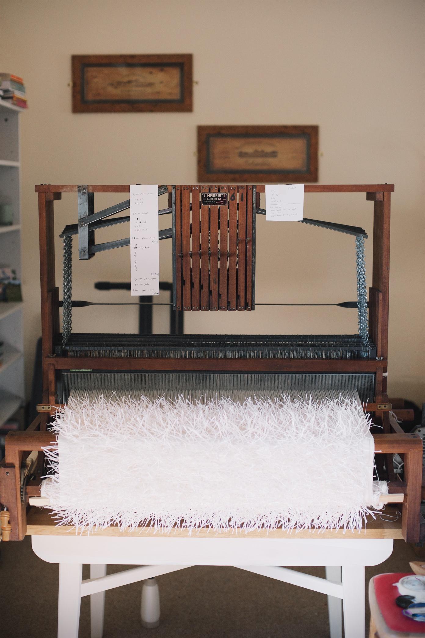 Weaving in progress