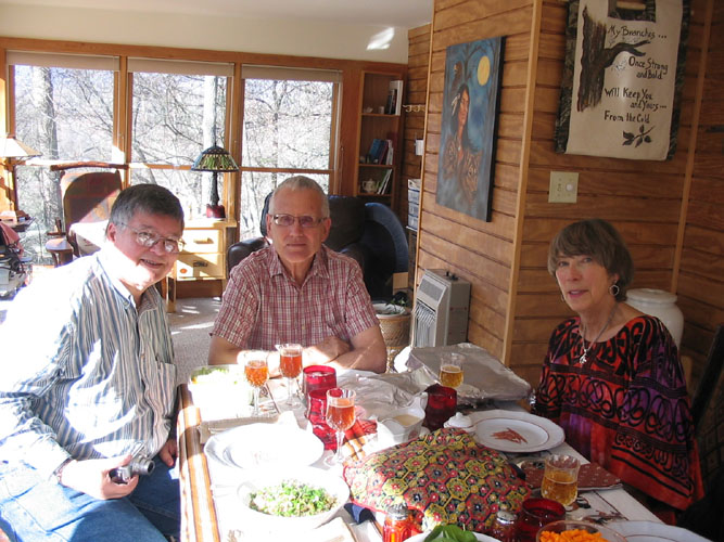Thanksgiving 2008 - Rick Jagus, Dean Logan, and Jean Logan