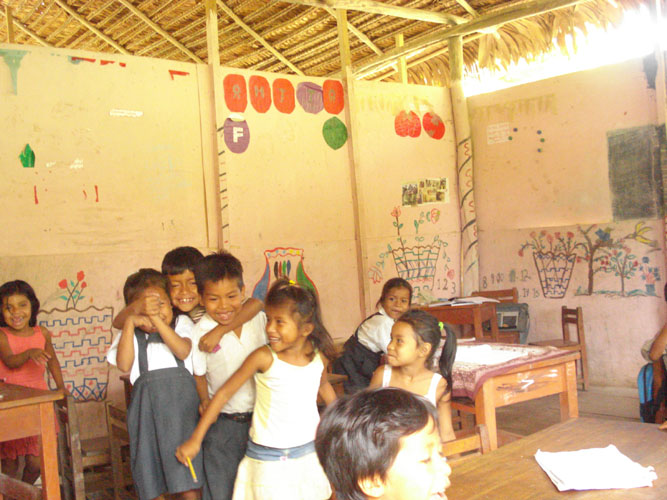 Typical rural class room.