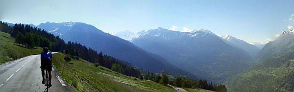 Ascending the Col du Petit Saint Bernard