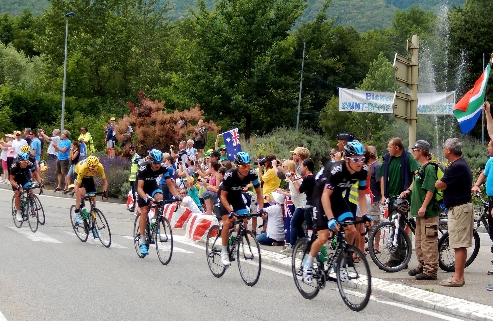 Team Sky at the Tour de France
