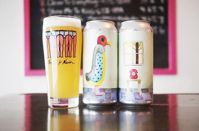New beer, tomorrow, March the eighth. Empty Monologue is an 8.5% DIPA hopped with Galaxy and Citra.   Featuring fragmentary notes of fucked up drippy peach parties, lost grapefruit sugar bowls, strangely delicious vanilla pine needle miffins, and anonymous fruit salad juices.   $18 a four pack.