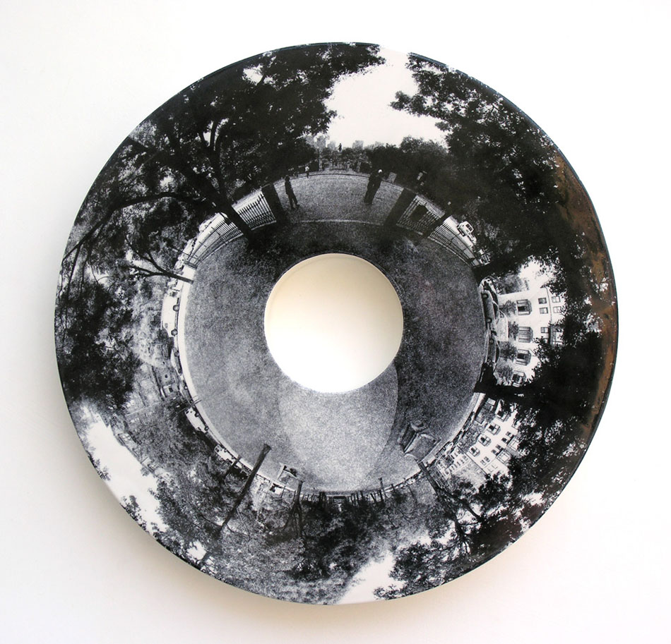 "Commonwealth Avenue 21"" diameter x 2"" deep"