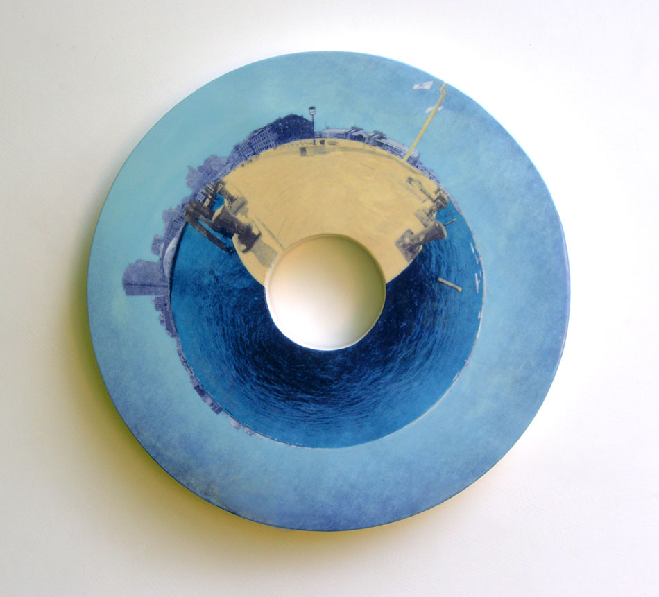 "Long Wharf 21"" diameter x 2"" deep"